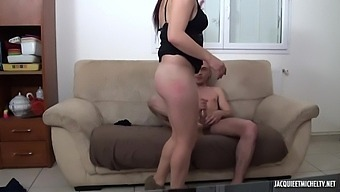 Insatiable French Brunette, Barbara Is Giving Pleasure To Two Guys, With Her Pussy And Mouth