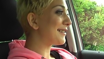 Horny Blonde Chick Mai Bailey Spreads Her Legs To Masturbate In The Car