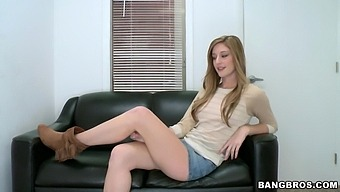 Horny Casana Lei Gets Her Tight Pussy Eaten Out On The Couch