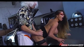 Hungarian Pornstar With F-Cup Boobs Cathy Heaven Gets Intimate With One Kinky Man