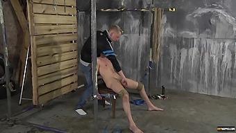 Nasty Man Tied Up His Lover And Sucks His Stiff Cum Gun. Hd