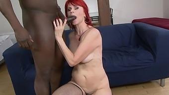 Hardcore Interracial Fucking With Dirty Redhead Mature Amanda Rose