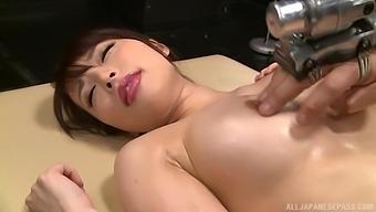 Busty Asian Cutie Sakurai Ayu Gets Her Hairy Pussy Pleasured
