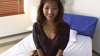 Horny Kyoko Izumi Moans While Getting Pleased With Some Toys