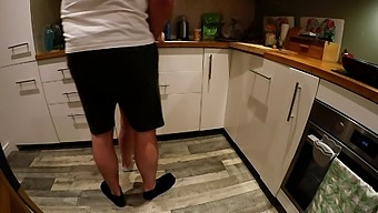 White Ankle Socks In The Kitchen Make Me Want To See Sperm In Her Pussy