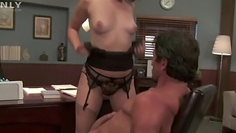 Wild Fucking In The Office With Gorgeous Brunette Bobbi Starr