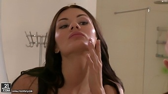 Fake Boobs Room-Mate Kitana Lure Spreads Her Legs To Ride A Fat Rod