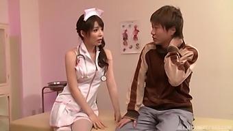 Wild Asian Nurse Kazama Yumi Enjoys Riding Her Lucky Patient