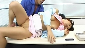 Hot Ass Japanese Girl Rina Katsura Enjoys Getting Fucked In The Office