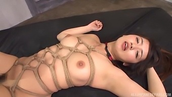 Tied Up Misaki Kanna Gets Talked Into Banging With Two Guys At Once