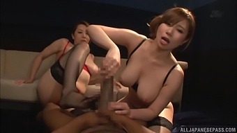 Pov Video Of Naughty Yumi Kazama And Her Friend Sucking A Massive Dick