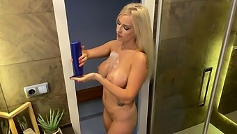 Busty Solo Blondie Marica Chanelle Moans While Fingering Her Pussy