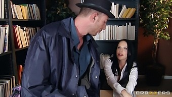Trimmed Pussy Brunette Katie St. Ives Opens Her Legs To Be Fucked