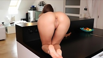 Hot Ass Brunette Marta Loves Masturbating On The Table At Home