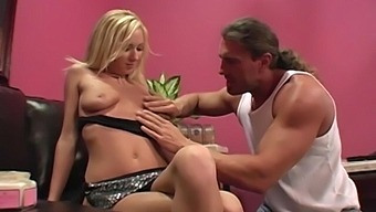 Balls Deep Fucking On The Sofa With Adorable Blonde Hillary Scott