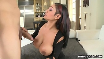 Busty Chick Priya Rai Pleases A Thick Dick With Her Soft Lips