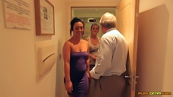 Clothed Babes Chantelle Fox And Hannah Shaw Stroke A Stiffy