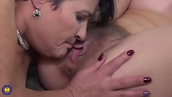 Chubby Brunette Woman Is Making Love With Her Red Haired Girlfriend, Every Once In A While