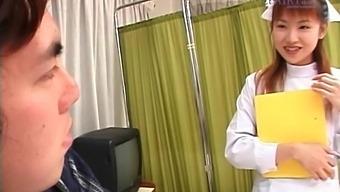 Small Boobs Japanese Nurse Rina Usui Enjoys Pleasuring Her Patient