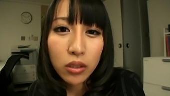 Pov Video Of Pretty Coworker Yuuna Hoshisaki Giving A Sloppy Bj