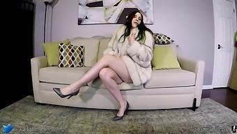 Pregnant Fur Slut Cant Get Fucked Enough In Her Fox Fur Coat - Amiee Cambridge