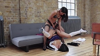 Naughty Babe Sahara Knite Having Fun With Another Lesbian Hottie
