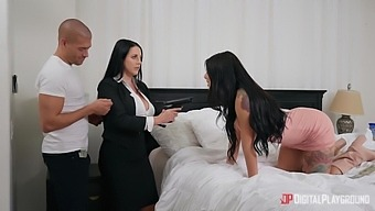 Special Agents Gina Valentina And Angela White Have Mission Of Wild Threesome