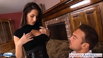 Temptress Kortney Kane Sucks A Big Phallus And Rides It Face To Face And Reverse