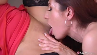 Mature Lesbians In Sexy Stockings Make Each Other Cum In The Kitchen - Kathy Anderson