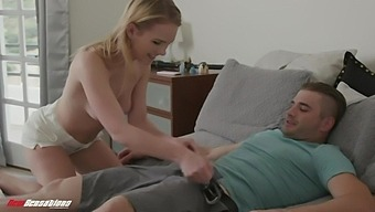 Sizzling Babe Natalie Knight Gives A Sensual Blowjob To Handsome Boy Nathan