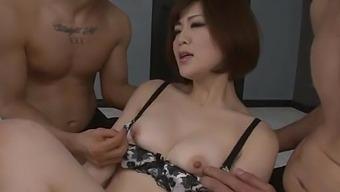 Perky Tits Wife, Tomoka Sakurai, Fucked By Two Males In Harsh Scenes