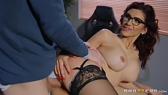 Poor Guy Does Everything He Can To Please His Sex Addicted Female Boss With Danny D