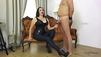 Obedient Locked Submissive Gets To Kiss My Ass