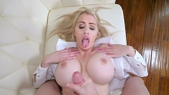 Kinky Blonde Milf Katie Monroe Gives Head And Rides A Large Dick