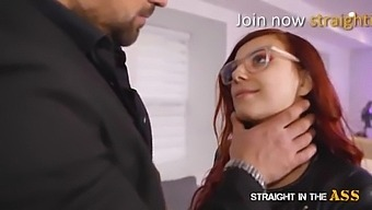 Straight In The Ass - Redhead Plugged & Ass Fucked