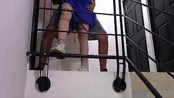 Trailer - Caught Fucking In Stairwell And Voyeur Neighbor Cums Looking At Us