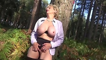Lady Sonia Masturbates In The Forest