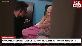 Fck News - Home Director Caught Fucking Resident - Skylar Vox