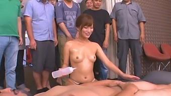 Kokone Mizutani Gives An Amazing Handjob While Her Student Watch