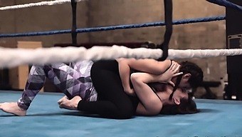 Wrestling Lesbians Strapon Fuck In Ring