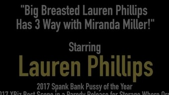 Big Breasted Lauren Phillips Has Three(3) Way With The Use Of Miranda Miller!