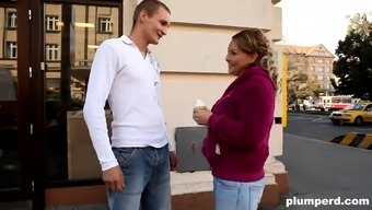 Plump Blonde Jenny Gets Her Brushed Pussy Taken By A Hunk