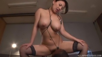 Mako Oda Can Be An Skilled In Coconut Oil Overwhelm And Treatment A Dark Colored Cock