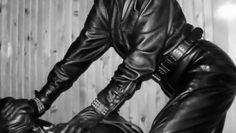 The Leather-Based Domina - Leather-Based Thing - Absolute A Leather Covered Tub Chair Slavery