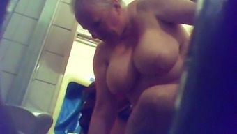Spying For This Granny With The Assistance Of My Wireless Hidden Cam