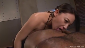 Oiled Over Hen Mako Oda Take Pleasure In Being Fucked Using A An African American