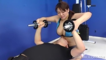 Placing Japanese People Girl Goes Intense By Using A Pair Of Sportive Males