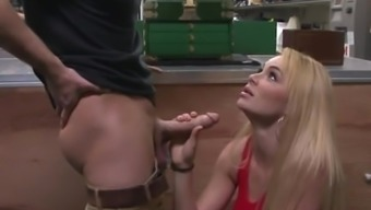 Luster Teen Creampie Event Staff Takes A