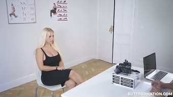 Blondie Fesser Justifes Her Really Giant Titties During The Course Of The Question