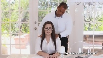 Secretary In Pantyhose Stupid Ass Fucked By Bbc